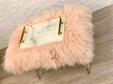 Load image into Gallery viewer, Pink Wooly Acrylic Bench
