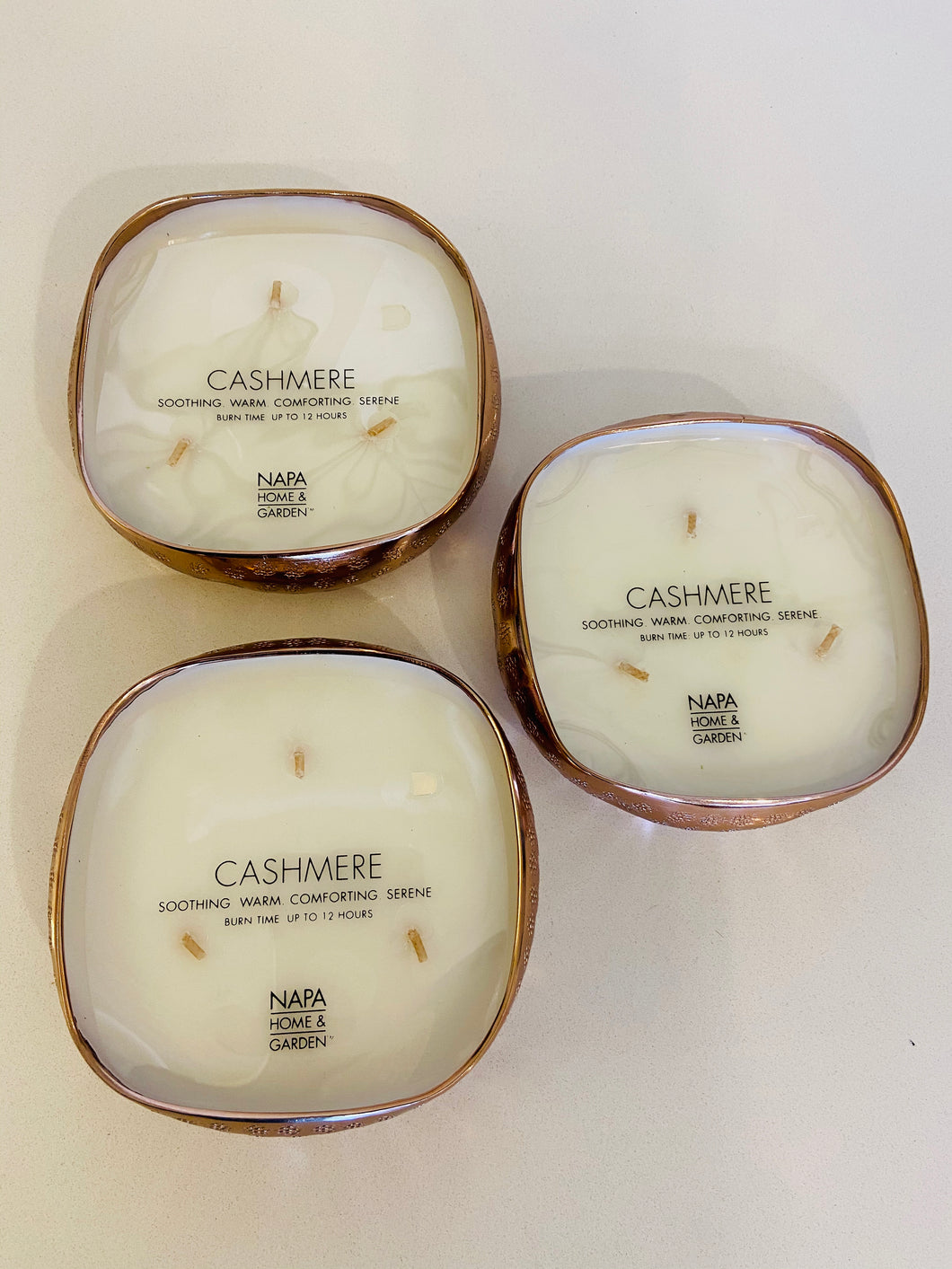 Cashmere Candles in small and large