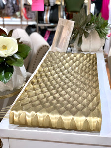Diamond Texture Gold Platter