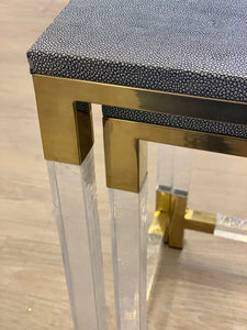 Faux Shagreen Nested Tables