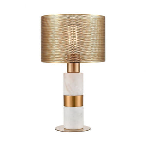 The Marble Perforated Brass Lamp