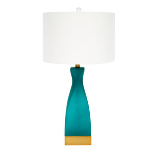 Emerald Green Frosted Lamp