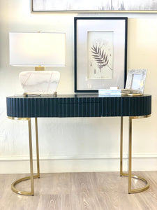 Dulani Black Desk with Gold Base