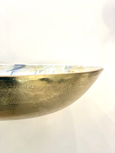 Medium Gold Bowl with Multi-color Enamel