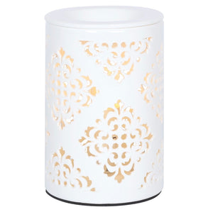 Damask Cut Out Electric Wax Burner / Melter