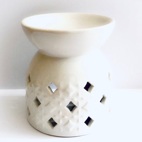 White (slightly imperfect) Moroccon Wax Melter / Burner