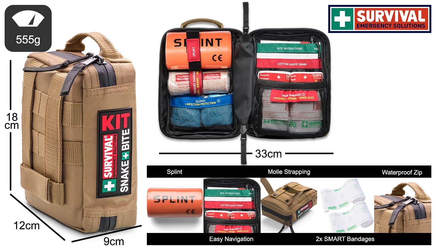 SURVIVAL Snake Bite KIT Dimensions and Features