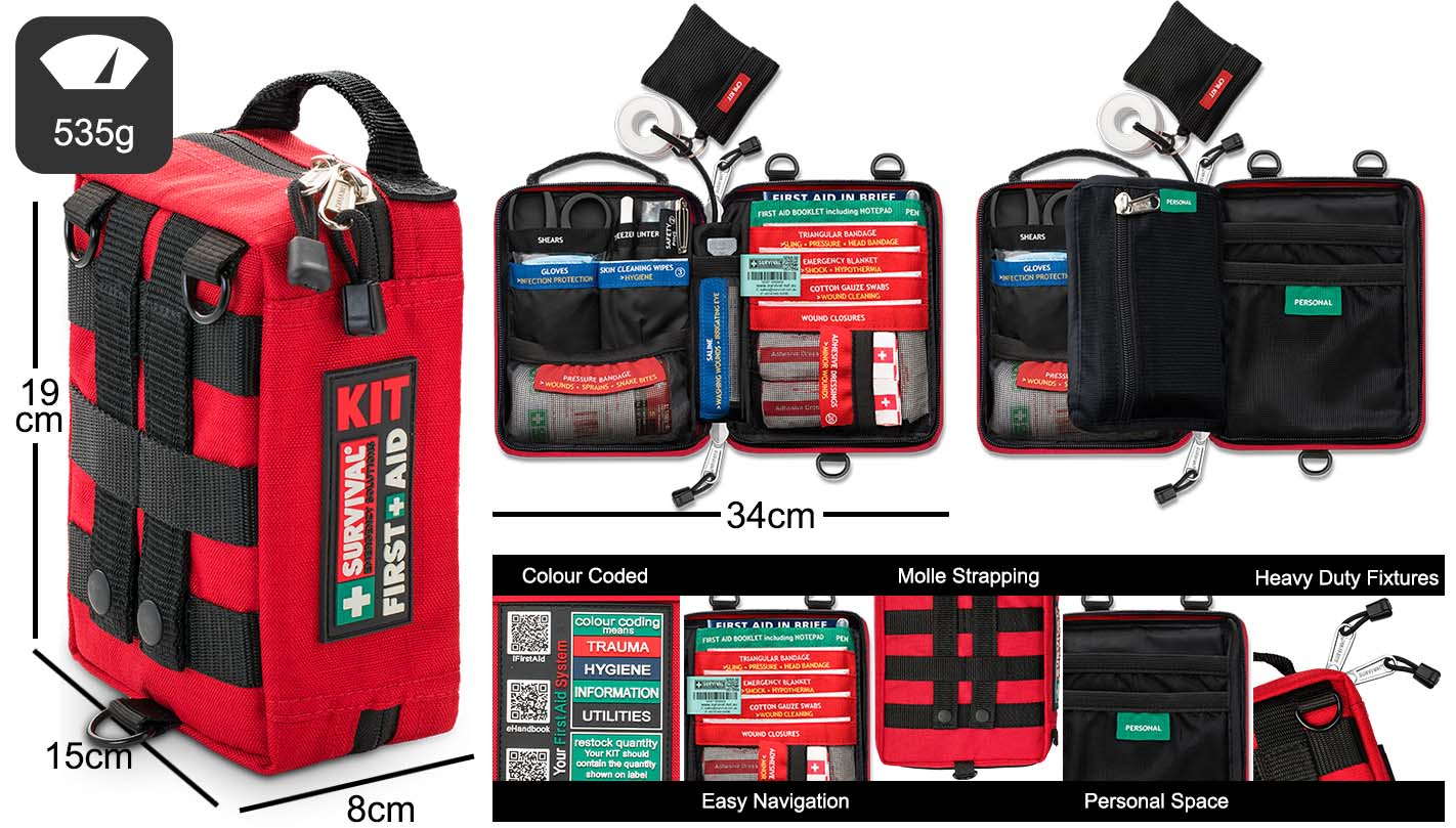 SURVIVAL Handy First Aid KIT Dimensions and Features