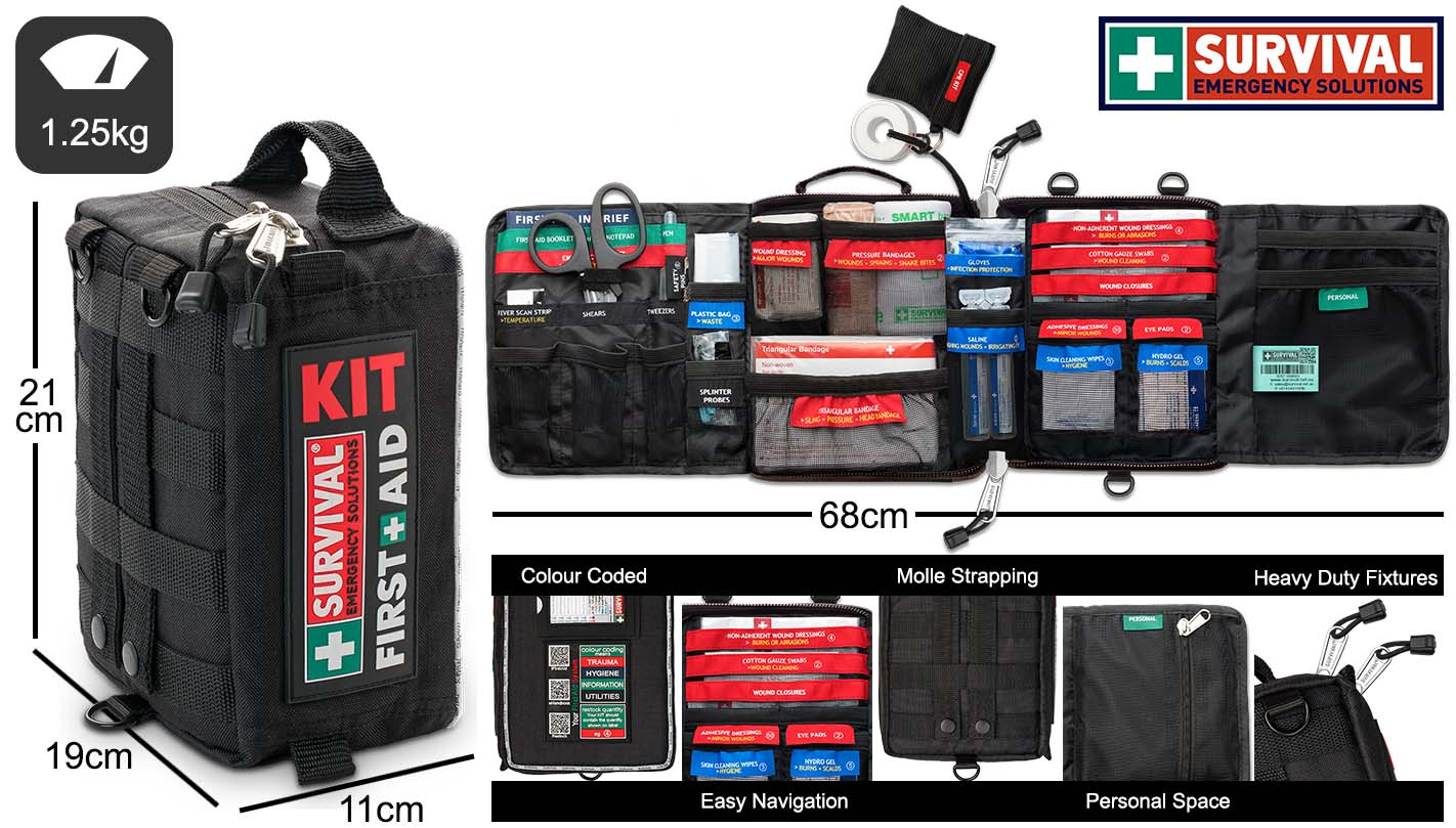 SURVIVAL Vehicle First Aid KIT Features and Dimensions