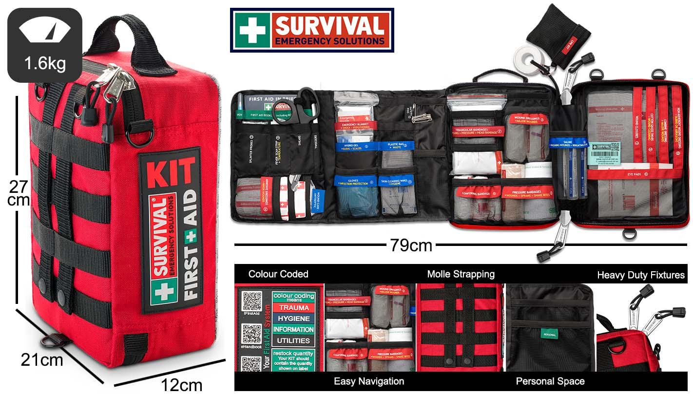 SURVIVAL Home/Workplace First Aid KIT Dimensions and Features