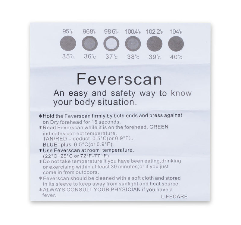 Fever scan strip