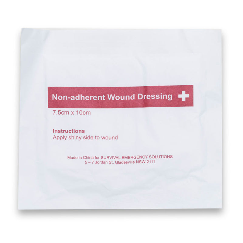 Non-adherent wound dressing, sterile