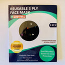 3ply Reusable, Washable Cloth Face Mask, Hearts