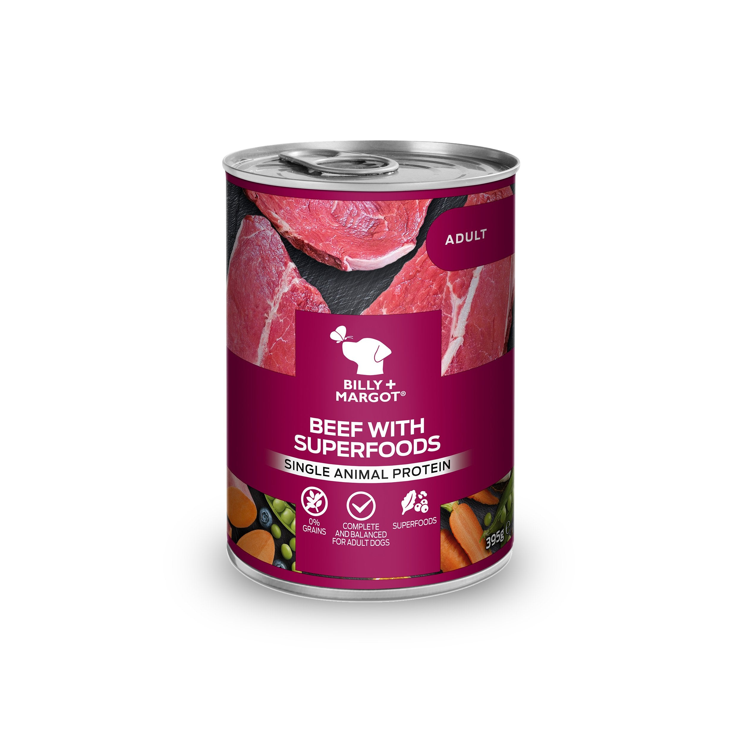 Billy + Margot Beef with Superfoods Canned Wet Dog Food