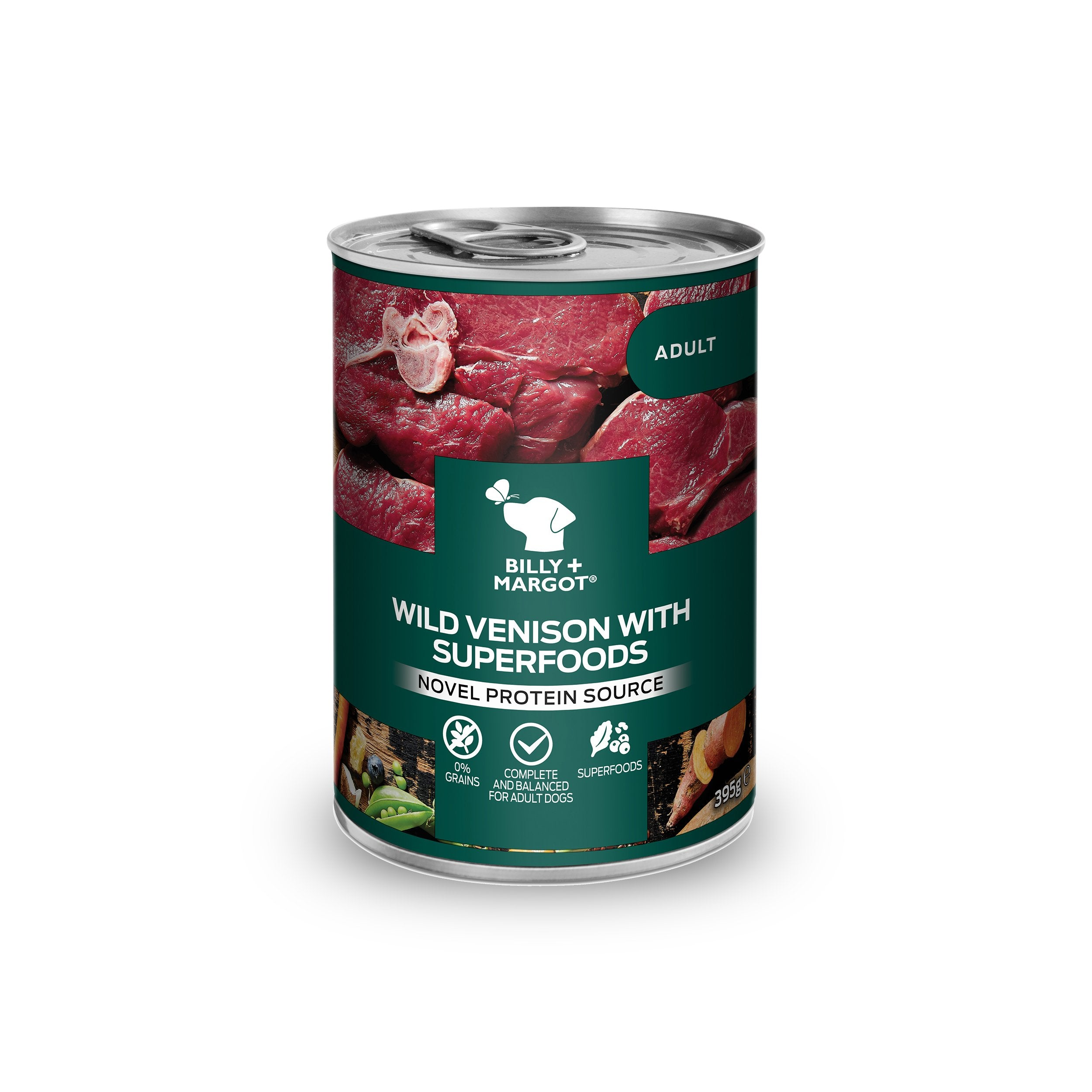 Billy + Margot Venison with Superfoods Canned Wet Dog Food