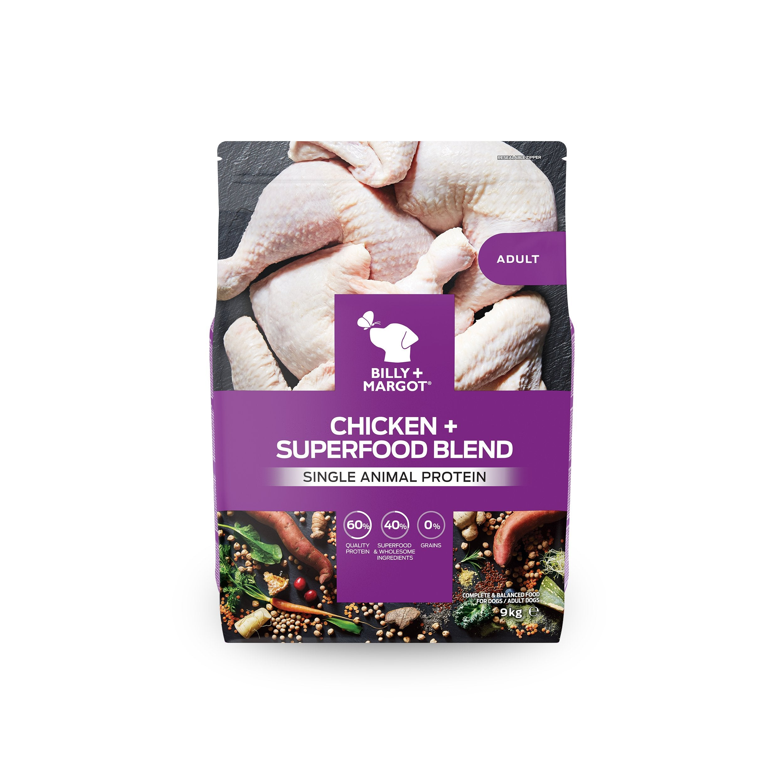 Billy + Margot Chicken + Superfood Blend Dry Dog Food
