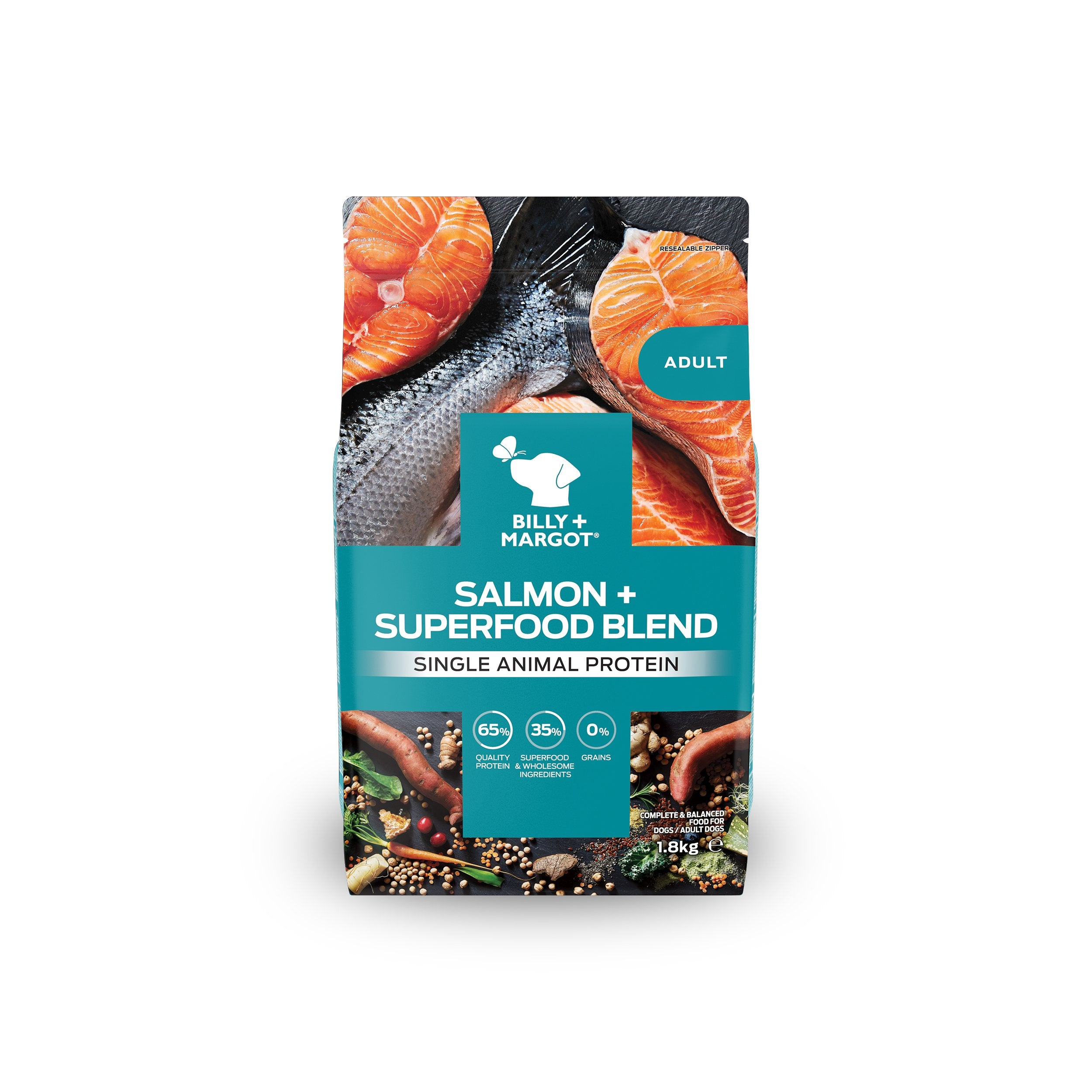 Billy + Margot Salmon + Superfood Blend Dry Dog Food