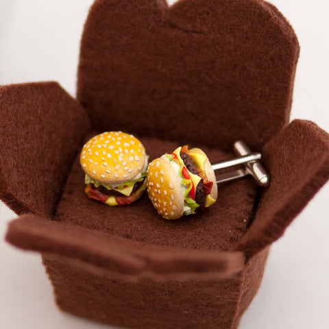 Bacon Cheeseburger Cufflinks