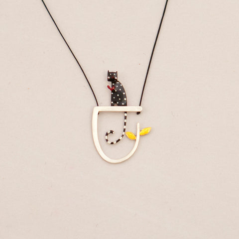 Love Cat Pendant (Silver)
