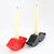 Mustache and lips candle holder