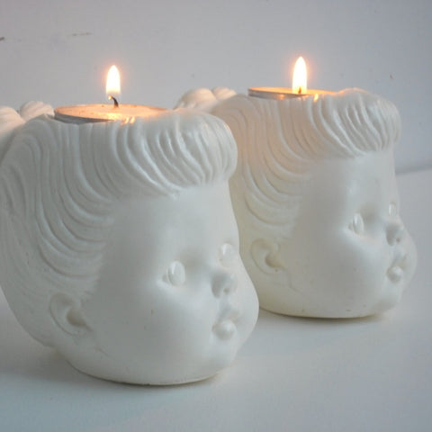 Doll head candle holder (other colors available)
