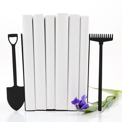 Shovel and rake bookends