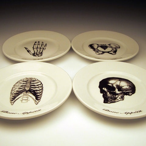 Set of 4 Bone Appetit Dessert Plates (other colors available)