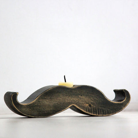 Mustache Candle Holder