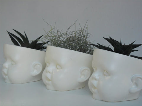 Doll head plant pot (other colors available)