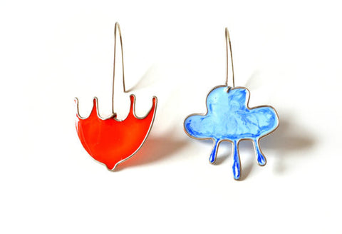 Cloud and Umbrella Earrings