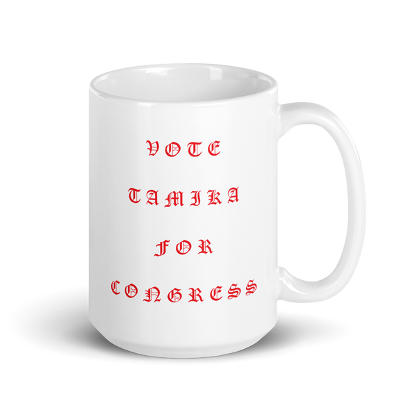 Tamika Old English Red Mug