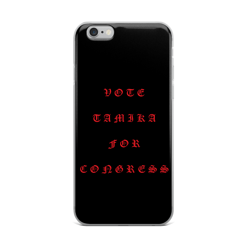 Tamika Old English Red iPhone Case
