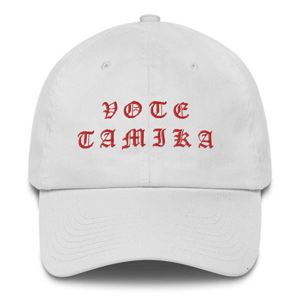 Tamika Old English Red Dad Hat