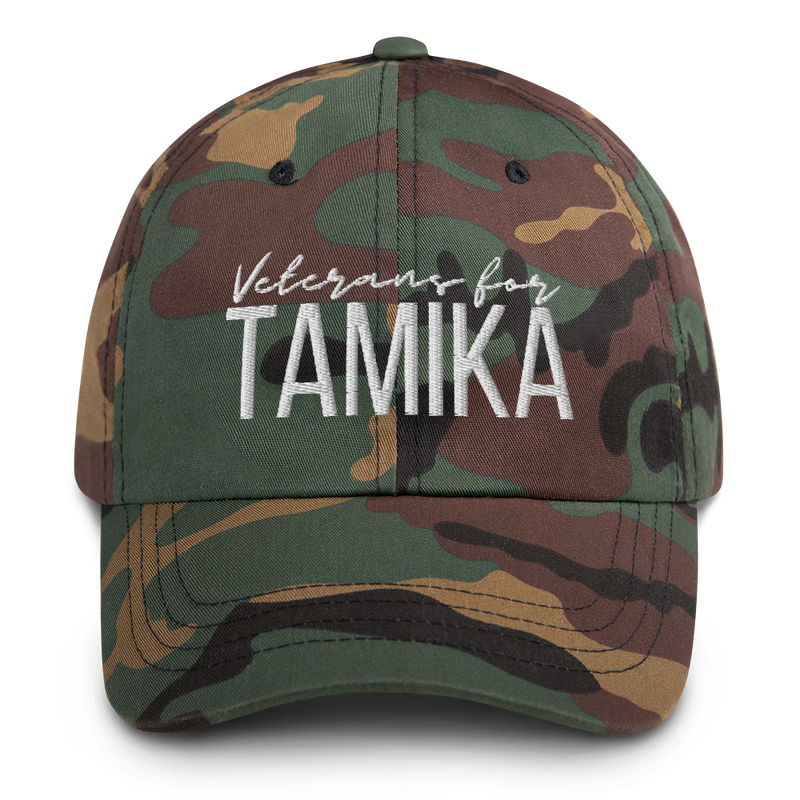 Veterans for Tamika Camo Dad Hat