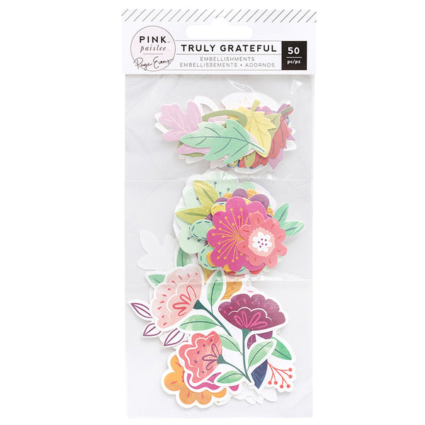 Truly Grateful Flora Ephemera Embellishments