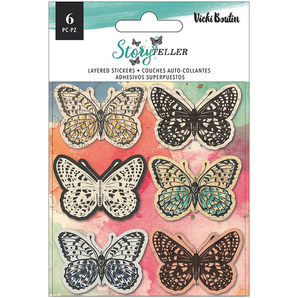 Storyteller Layered Butterfly Stickers