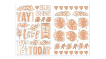 Wild Heart Gold Foil Stickers