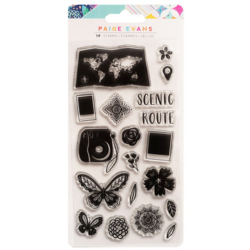 Go The Scenic Route Stamp Set