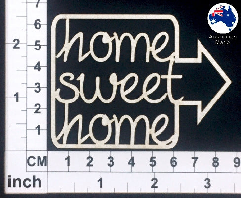 Home Sweet Home Chipboard Title