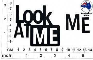 Look At Me (Black) Chipboard Title