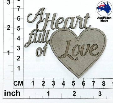 A Heart Full Of Love Chipboard Title