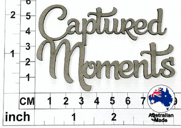 Captured Moments Chipboard Title