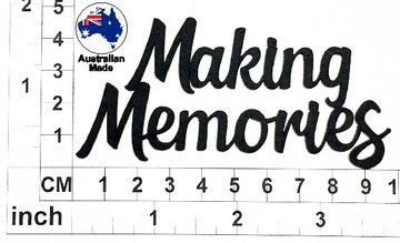 Making Memories Chipboard Title