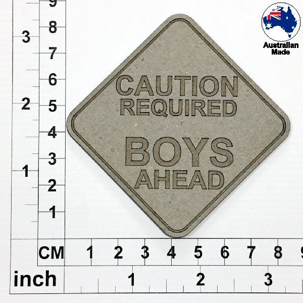 Boys Ahead Chipboard Title