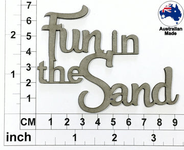 Fun In The Sand Chipboard Title