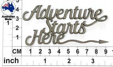 Adventure Starts Here Chipboard Title