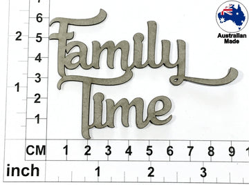Family Time Chipboard Title