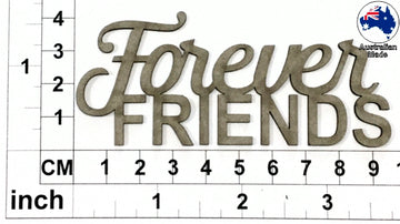 Forever Friends Chipboard Title