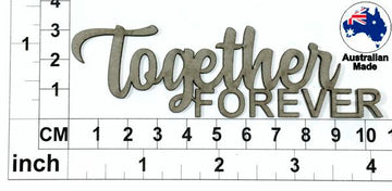 Together Forever Chipboard Title