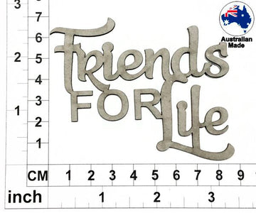 Friends For Life Chipboard Title